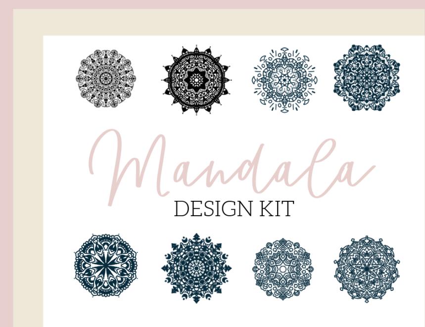 mandala design kit for spiritual branding