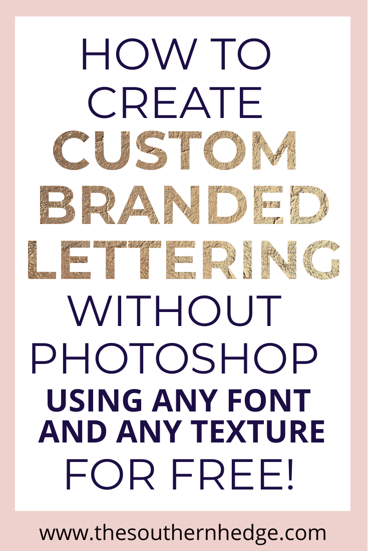 Create custom lettering for free with Crello